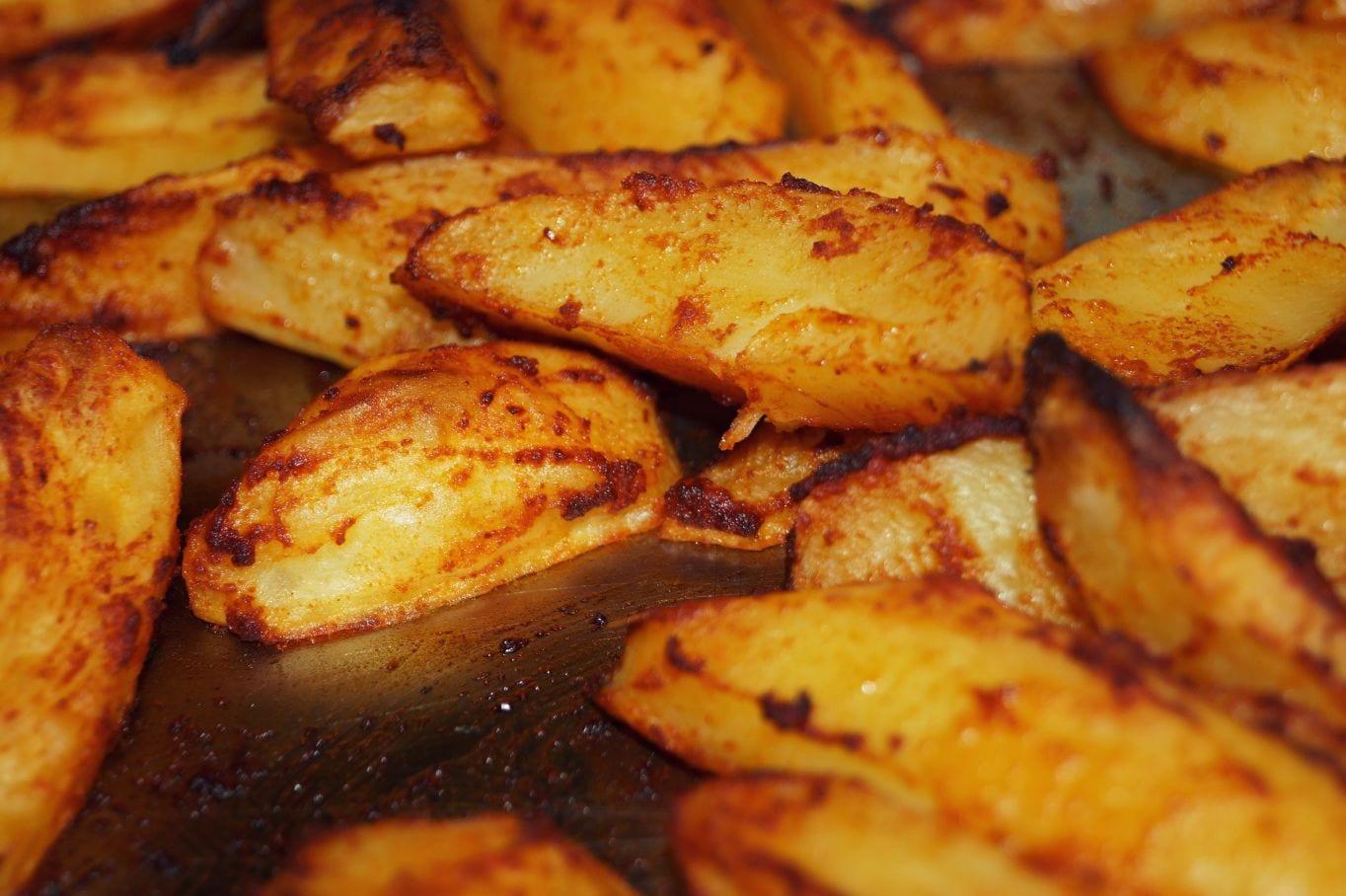 Roast potatoes also contain vitamin B as well as vitamin C which helps iron reach hair follicles