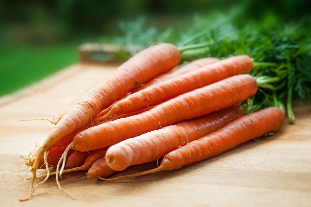 Carrots provide vitamin A which supports follicle bulb cell division and helps make sebum to condition scalp and hair