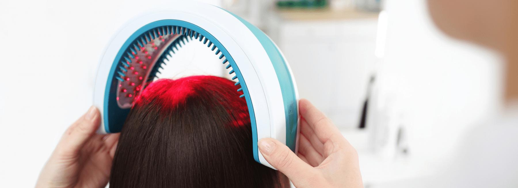 Laser hair growth illustration