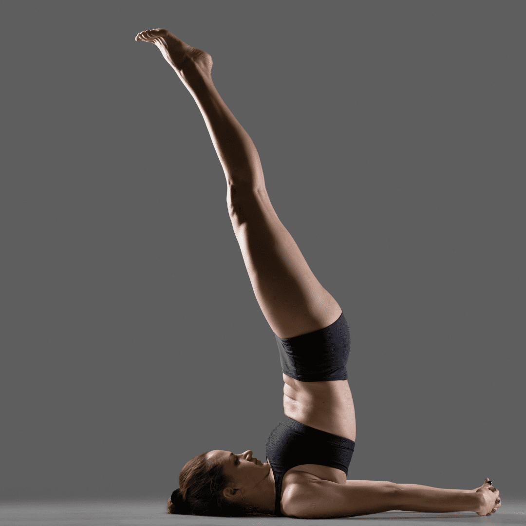 Shoulder Stand Pose (Sarvangasana) can help assist with preventing hair loss