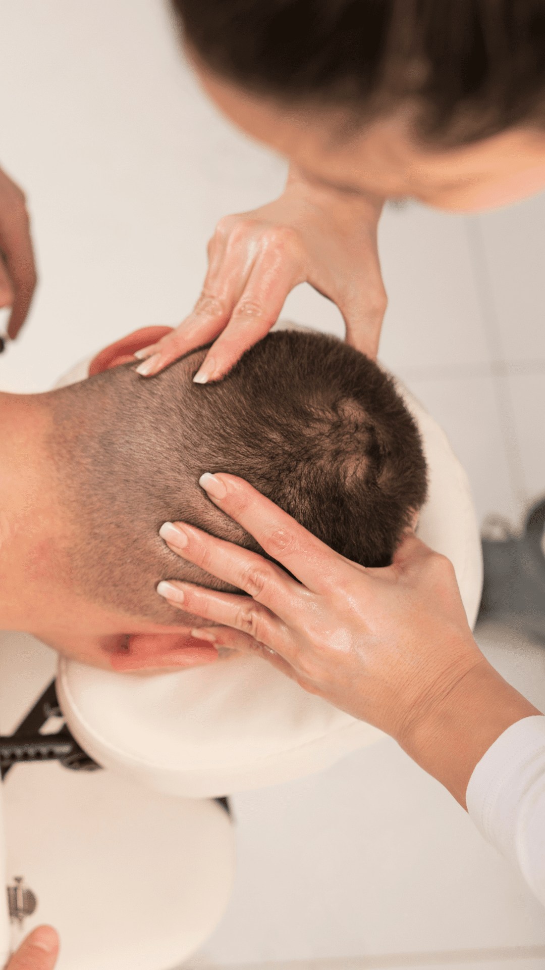 After a hair transplant a good scalp massage can help towards a boosted hair growth.